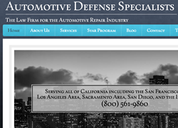 Automotive Defense Specialists is a law firm focusing on the defense of clients against California's Bureau of Automotive Repair.