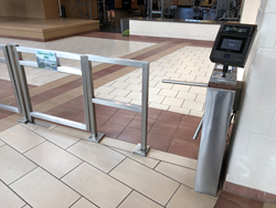 Trilock 60 tripod turnstiles at Georgia Southern University RAC