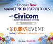 Discover New Marketing Research Tools with Civicom at the 2018 Quirk's Event in Irvine, CA