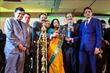 Release of Santhigram Souvenir. Dr. Sudhanshu Prasad, Padma Shri H.R. Shah, Padma Shri Dr. Sudhir Parikh, Dr. Gopinathan, Dr. Ambika Nair
