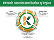 KWHCoin Donation Distribution by Region