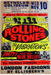 Original Boxing Style 1965 Rolling Stones Raleigh North Carolina Concert Posters