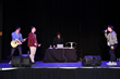 3Dimensional rocking the stage at the Haracoin pre-ico release party held at Utah Film Studios stage 1 during the 2018 Sundance Film Festival