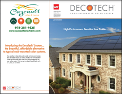 Beautiful home with DecoTech solar roof panels