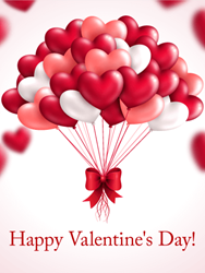 Okwave inc has released more than 100 valentines day greeting cards heart balloon happy valentines day card m4hsunfo