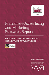"Report cover, BIA/Kelsey's ""Franchisee Advertising and Marketing Research Report,"""