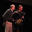 Poet Philip Levine and saxophonist/composer Benjamin Boone. (Photo: Joe Osejo)