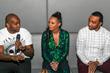 l-r: Detavio Samuels; Monique Rodriguez, Owner, Mielle Organics; Mysonne, Activist/Hip Hop Artist