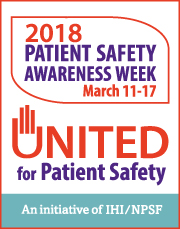 Patient Safety Awareness Week 2018