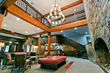 Beautifully renovated lobby with New England's largest field stone fireplace