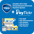 PayTickr Telpay small business mobile time tracking payroll epayments direct deposit