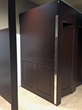 SRBX chose Aria Partitions in Mahogany color to complement their rich color motif.