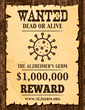 """Wanted"" Poster Seeks Researchers for Alzheimer's Germ, $1 million Prize says Dr. Leslie Norins on ALZgerm.org"