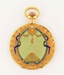 Green Enameled 18K Gold Pocket Watch, estimated at $2,500-3,000.