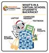 Online school student backpack