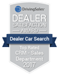 "Dealer Car Search Receives ""Top Rated"" DrivingSales Dealer Satisfaction Award for CRM - Sales Department"