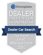 "Dealer Car Search Receives ""Top Rated"" DrivingSales Dealer Satisfaction Award for Lead Management"