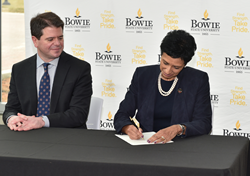 BSU President Aminta H. Breaux and EPA Regional Administrator Cosmo Servidio