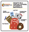 Online school student backpack