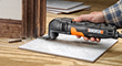 WORX 3.0 Amp Oscillating Tool handles projects requiring cutting, sawing, sanding, scraping, rasping, polishing, shaping and removal of hardened grout and adhesives.