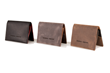 Via leather billfold wallet—in a choice of three handsome color combinations