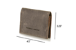 Via leather billfold wallet—perfectly sized for a pants or suit pocket
