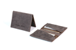 Via leather billfold wallet—grey leather exterior and interior