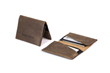 Via leather billfold wallet—grizzly leather exterior and interior