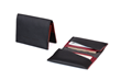 Via leather billfold wallet—black leather exterior and interior