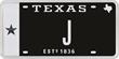 Plate letter J