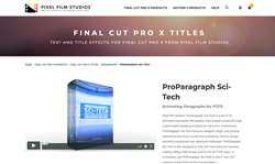 ProParagraph Sci-Tech - FCPX Effects - Pixel Film Effects