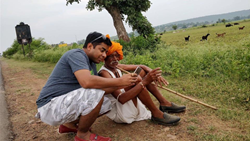 Ruchit Garg, Founder CEO Harvesting at village near Bhopal, Madhya Pradesh India