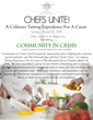 Chefs Unite! A Culinary Tasting Experience for a Cause