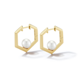 Kharis Hexa Pearl Earrings by Valani. 18K Gold Set with Japanese Akoya Pearls