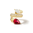 Rival Ruby Ear Cuff by Valani. 18K Gold