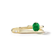 Ariou Emerald Two-Finger Ring by Valani. 18K Gold