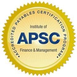 Accredited Payables Solutions Consultant (APSC) seal