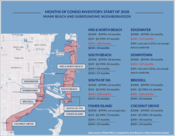 Neighborhood map: Miami luxury condo inventory at all-time highs.