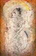 """Man of Peace"" by Jamali, Fresco Tempera, 1987, 55x84 in, Cat. 19"