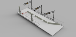 East Lane Fiber and Security Rendering for Port Runner Suppression System at the Otay Mesa Crossing