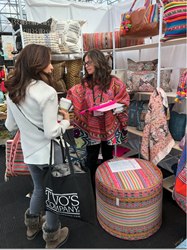fabric designer, peruvian fabrics, unique ottomans, jamie lauren designs,