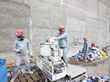 Right tools for the job: The Jucazinho Dam concrete walls were treated with a combination of: PENETRON INJECT FLEX, a spray applied sealer; PENESEAL PRO; and PATCHLINE SM, a polymer-modified mortar.