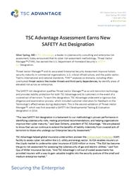 TSC Advantage press release image