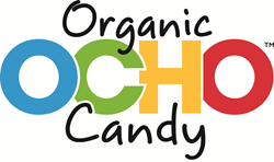OCHO Candy™, a fun, organic alternative to traditional chocolate bars