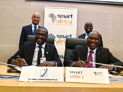 Smart Africa and Global Voice Group signed an MOU