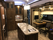 Kitchen area of fifth wheel trailer