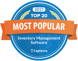 Capterra Top 20 Most Popular for Inventory Management