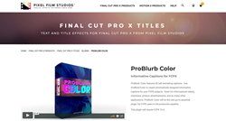 Pixel Film Studios Effects - ProBlurb Color - Final Cut Pro X Effects
