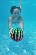 Watermelon Ball JR is smaller, lighter, highly visible in water