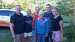L to R: Jeff Robbins, Nicole Robbins and Jenny Flynn of Midmark, Margie Devor – World Vision recipient, Flemmington, WV, Alvin Mueller and Nikki Albers of Midmark